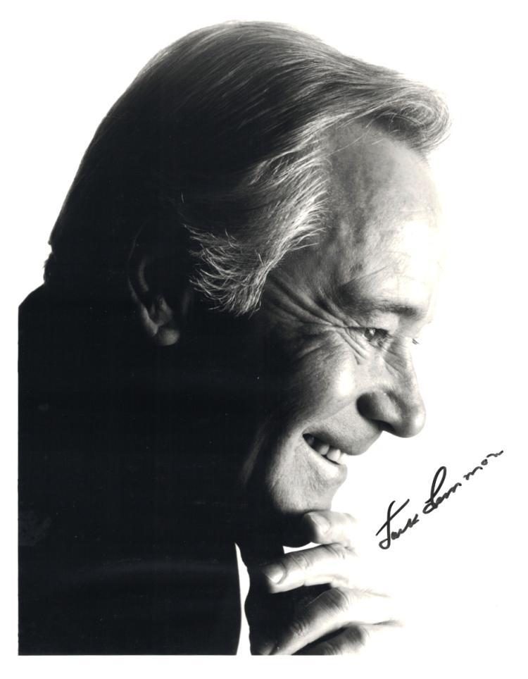 Actor JACK LEMMON - Photo Signed