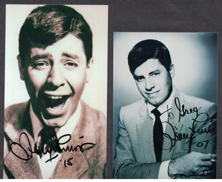 JERRY LEWIS - Two Photos Signed