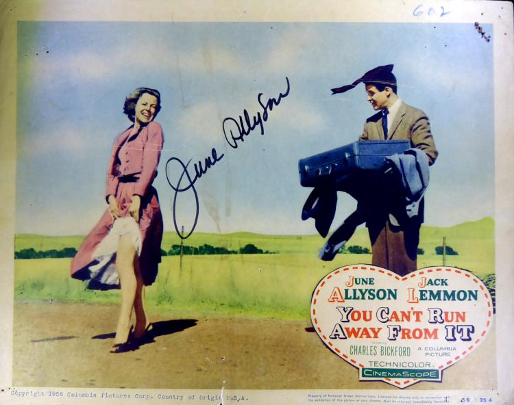 Actress JUNE ALLYSON - Lobby Card Signed