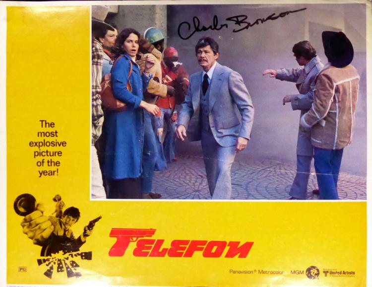 Actor CHARLES BRONSON - Lobby Card Signed