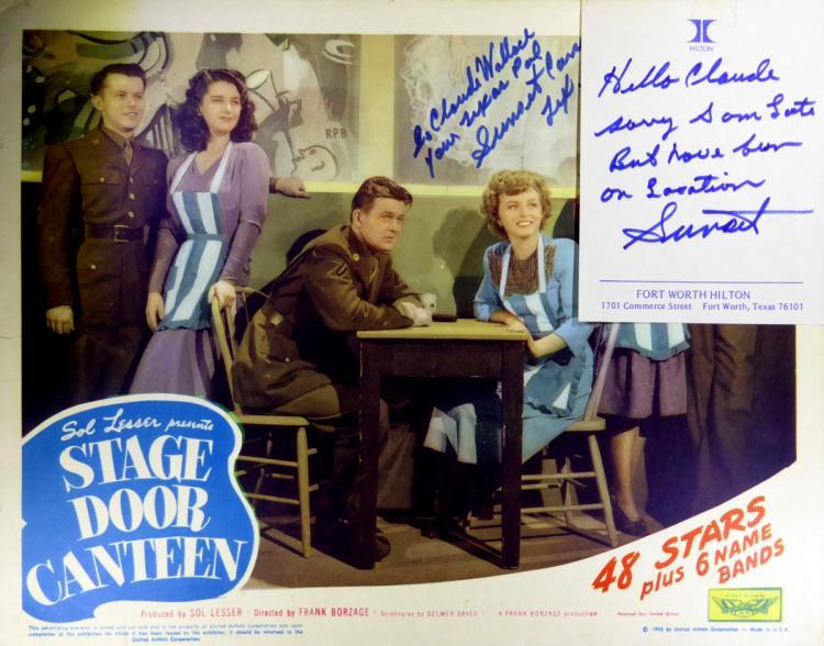 Actor SUNSET CARSON - Lobby Card Signed