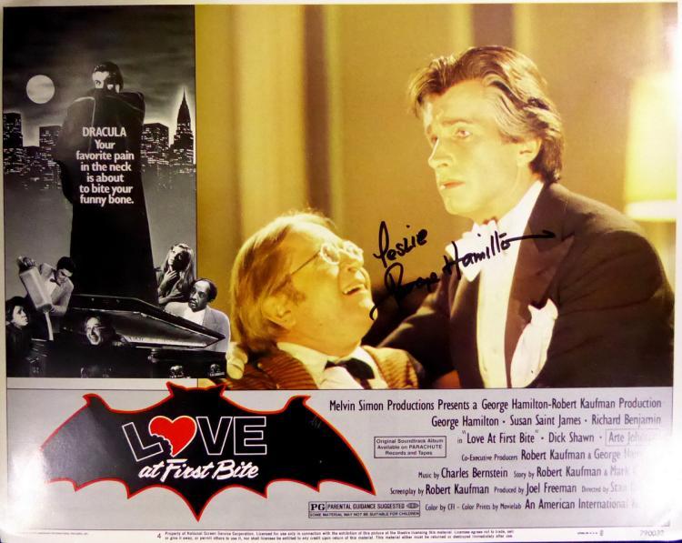 Actor GEORGE HAMILTON - Lobby Card Signed