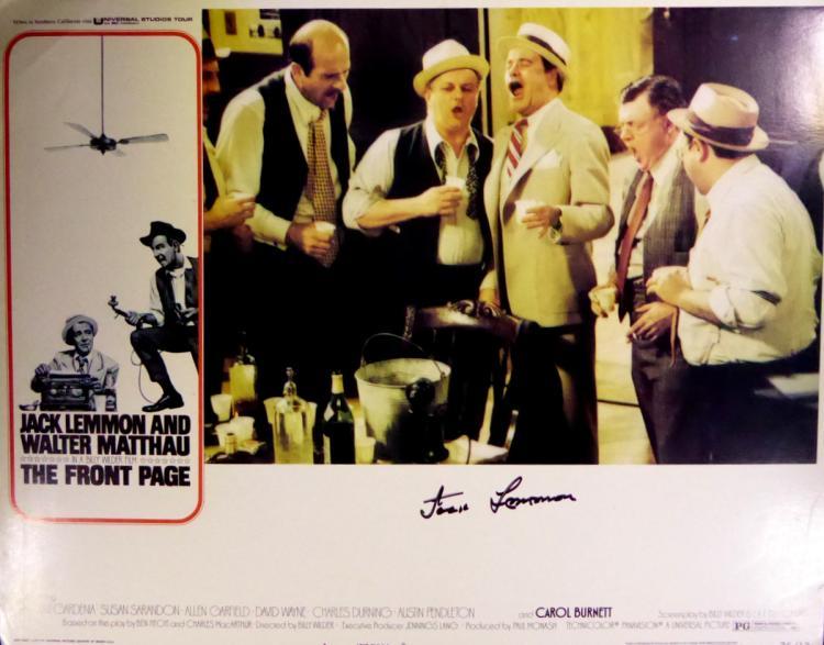 Actor JACK LEMMON - Lobby Card Signed