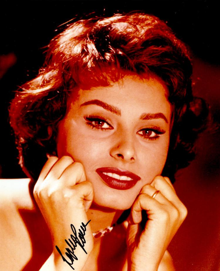 SOPHIA LOREN - Photo Signed