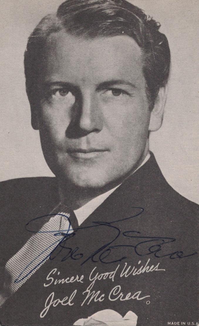 Actor JOEL McCRAE - Photo Signed
