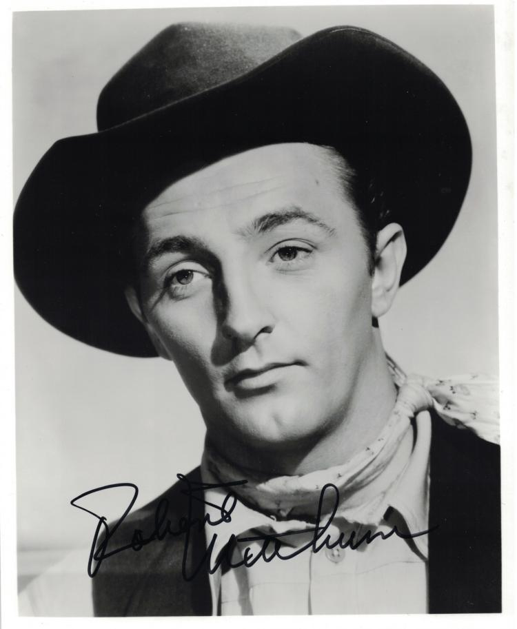 Actor ROBERT MITCHUM - Movie Still Signed