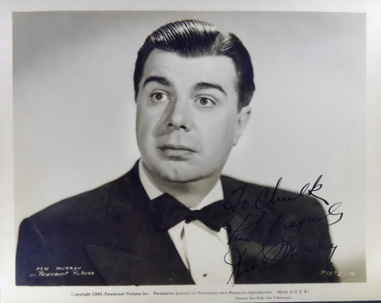 Actor, Producer KEN MURRAY - Photo Signed