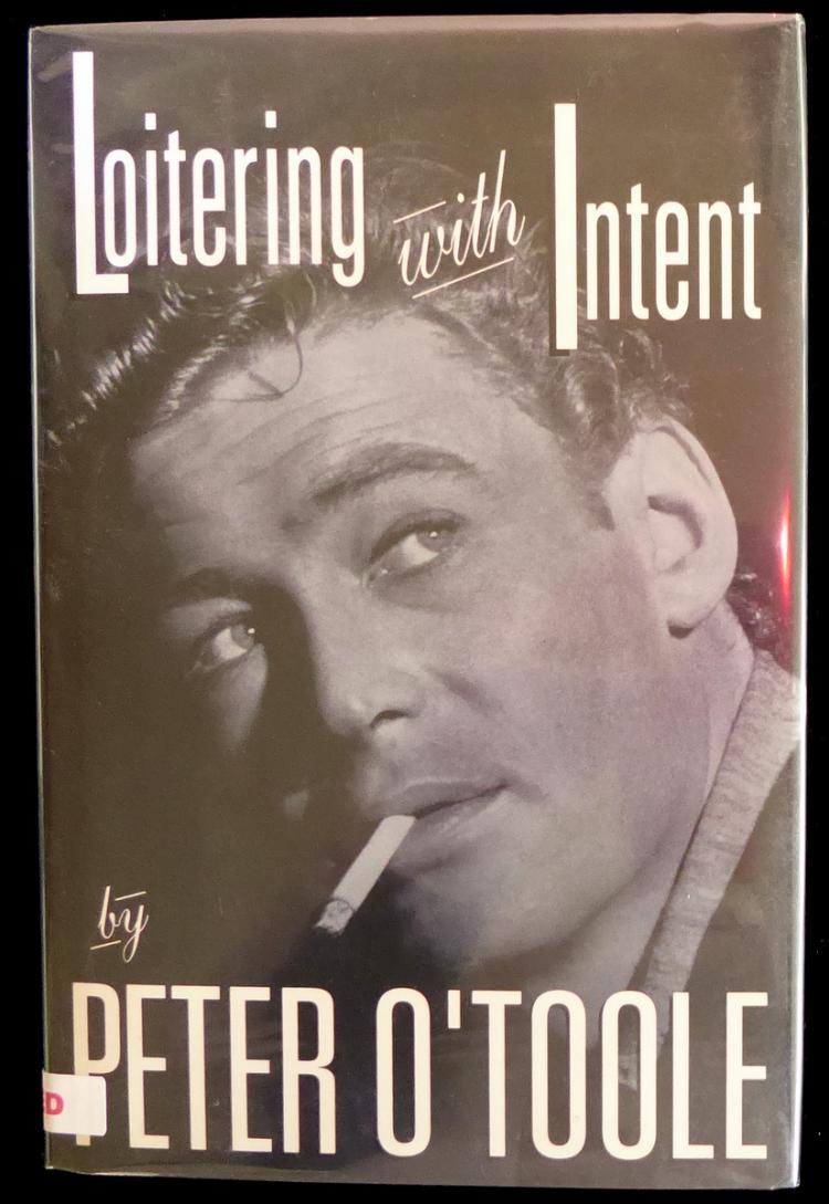 Irish Actor PETER O'TOOLE - His Book Signed, 1st Ed
