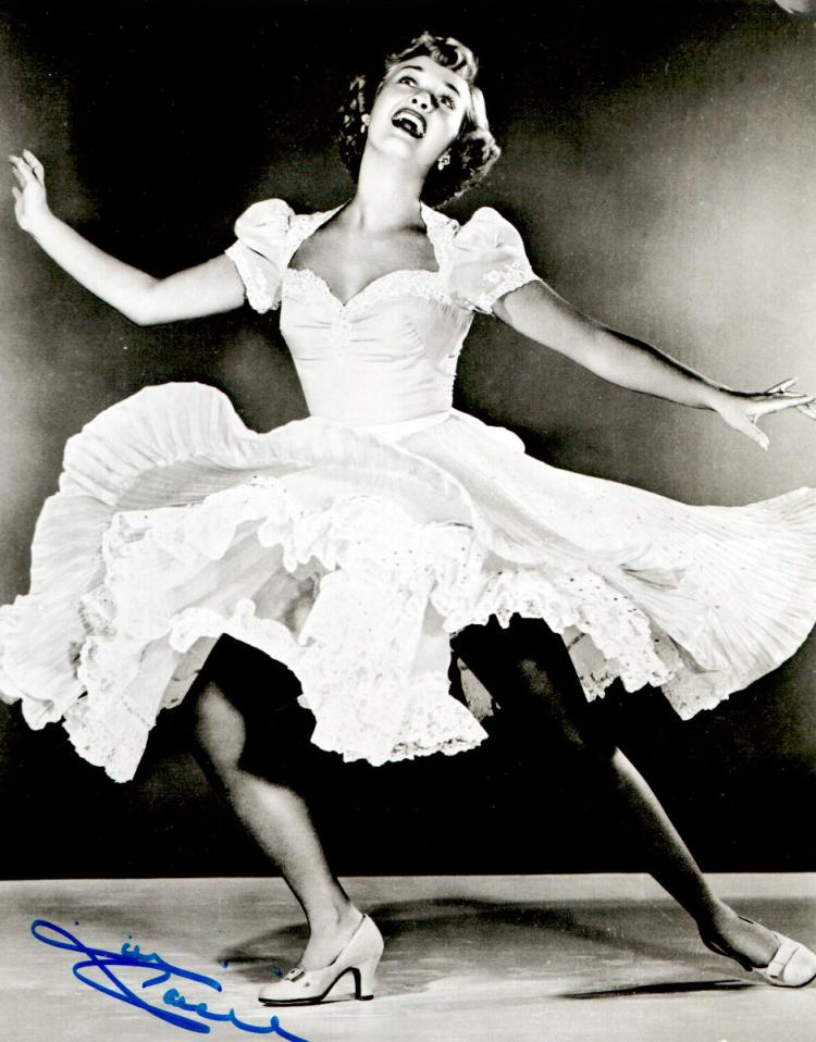 Singer, Actress JANE POWELL - Two Photos Signed