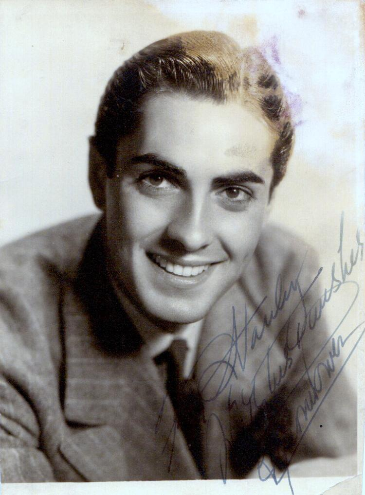 Actor TYRONE POWER - Photo Signed