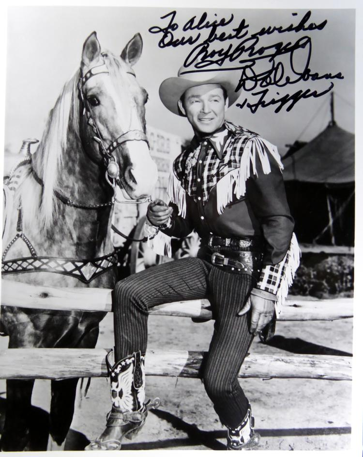 Western Stars ROY ROGERS & DALE EVANS - Photo Signed