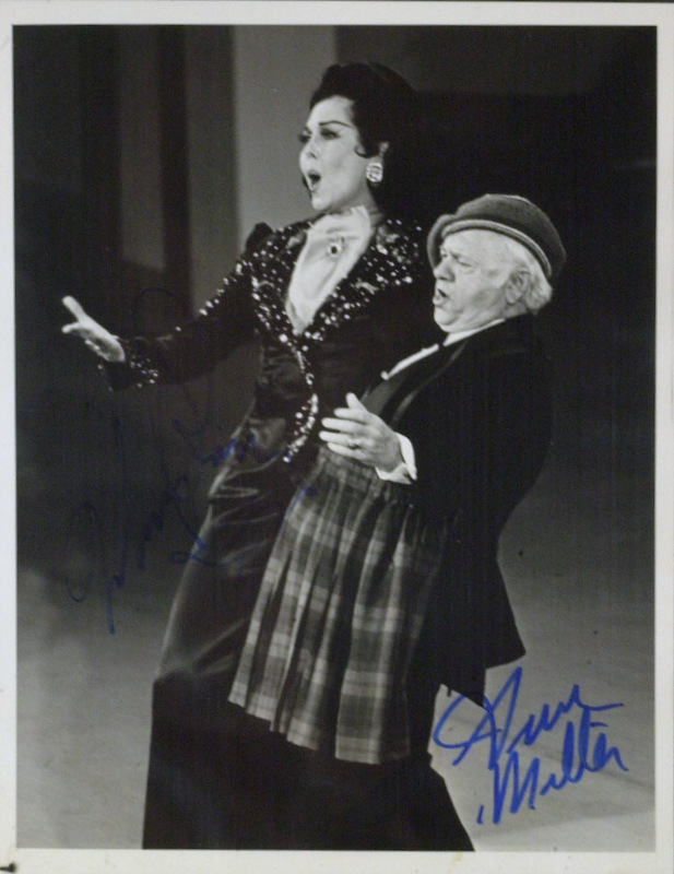 Actors MICKEY ROONEY & ANN MILLER - Photo Signed