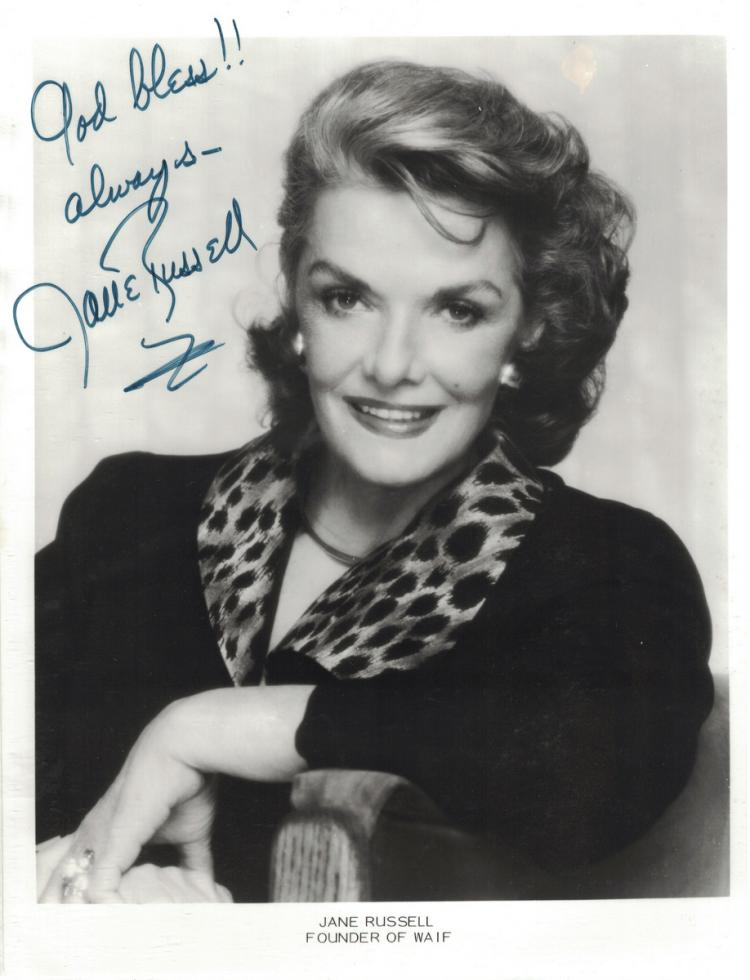 Actress JANE RUSSELL - Photo Signed