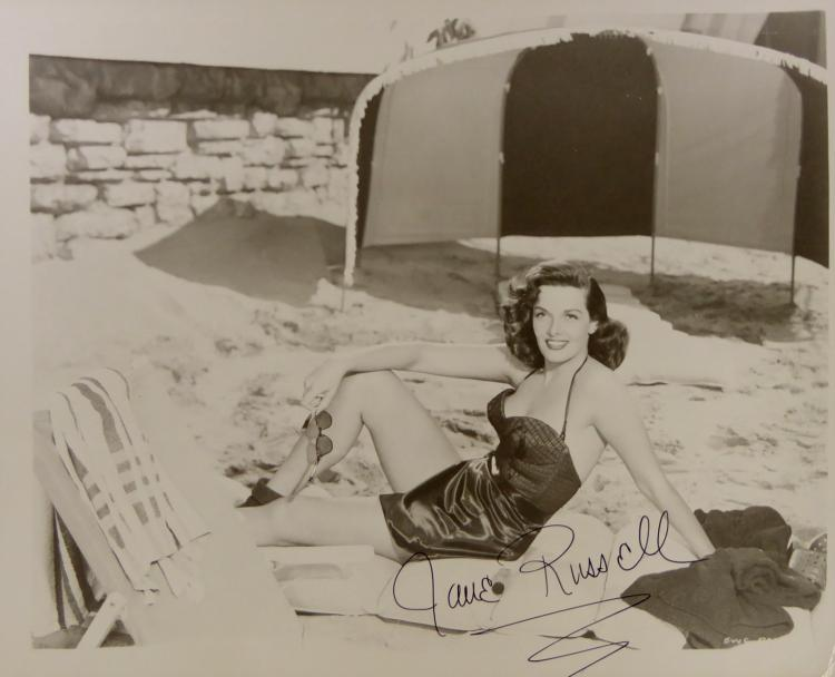 JANE RUSSELL - Photo Signed