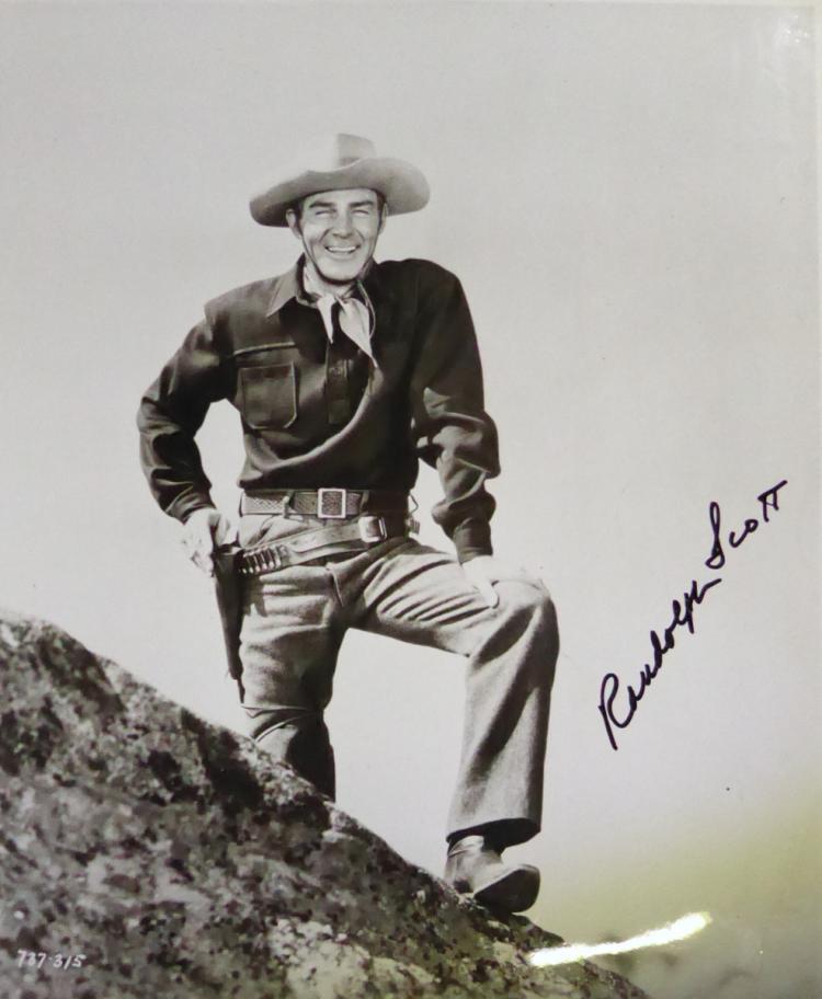 Actor RANDOLPH SCOTT - Phioto Signed