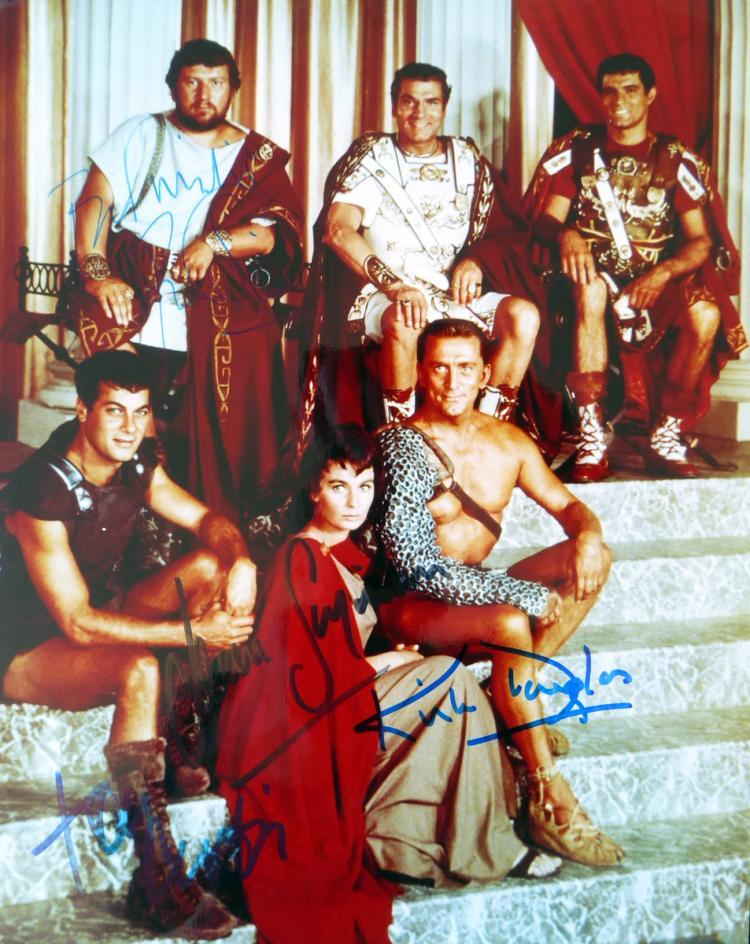 Epic Film SPARTACUS - Cast Signed Photo