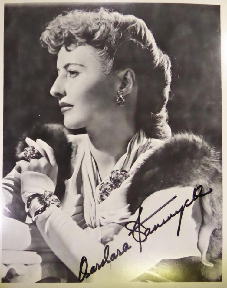 Actress BARBARA STANWYCK - Photo Signed