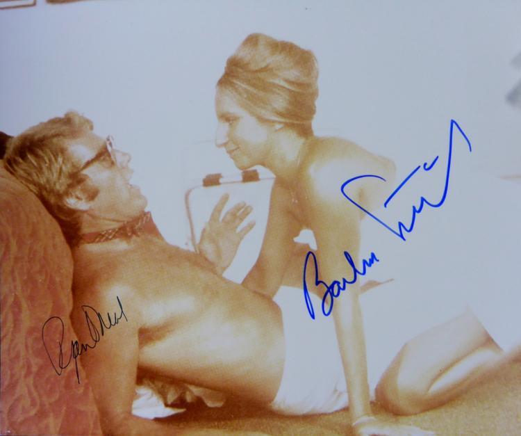 BARBARA STREISAND and RYAN O'NEAL - Movie Photo Signed