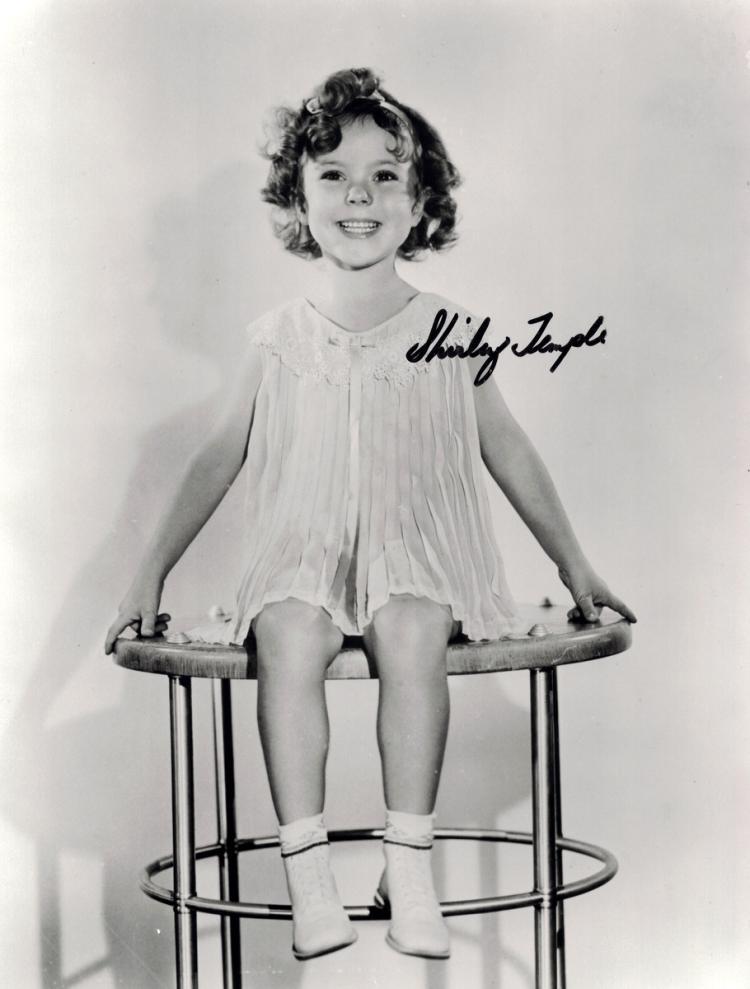 Child Actress SHIRLEY TEMPLE - Youthful Photo Signed