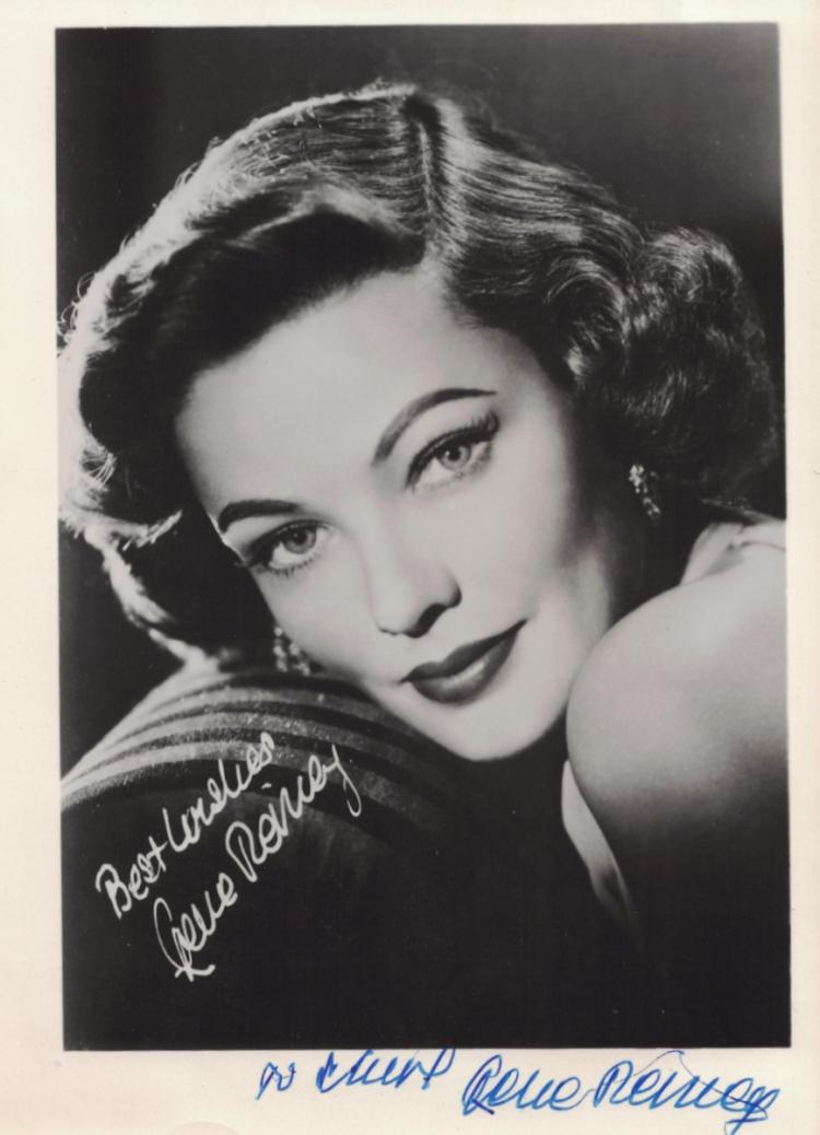 Actress GENE TIERNEY - Photo Signed
