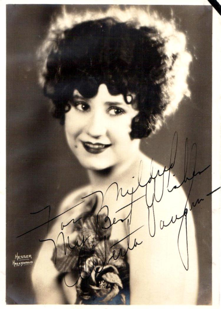 Silent Film Actress ALBERTA VAUGHN - Photo Signed