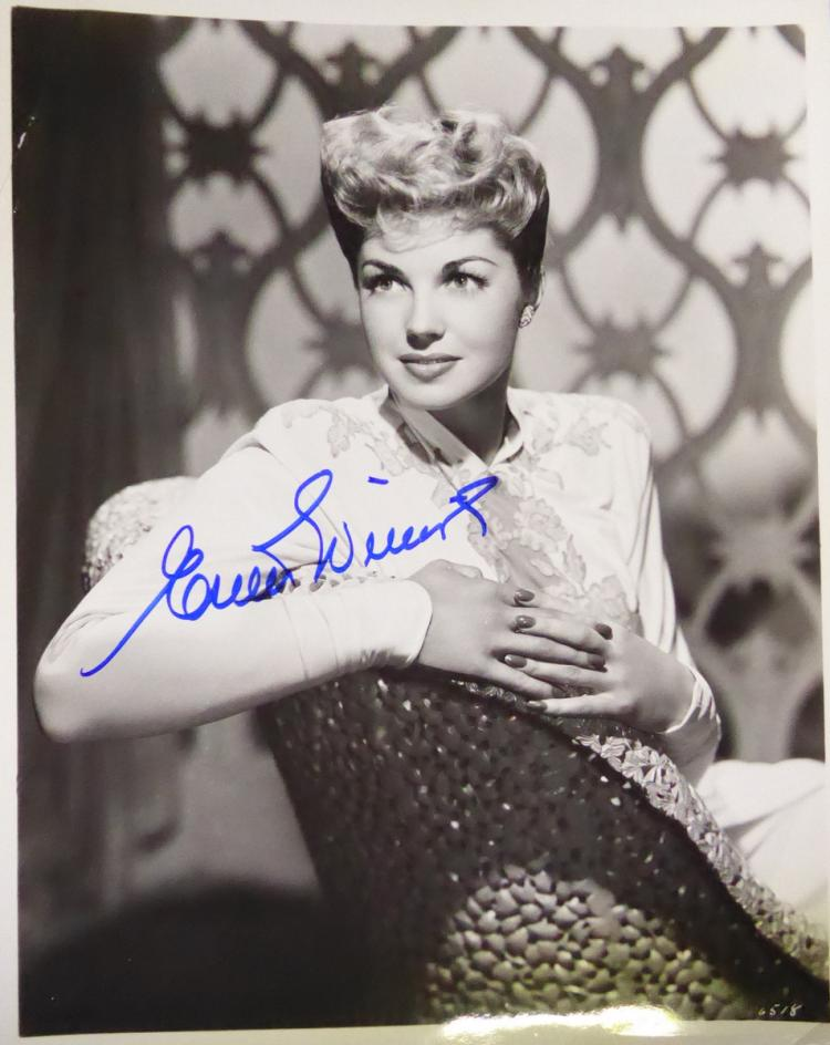 Actress ESTHER WILLIAMS - Photo Signed