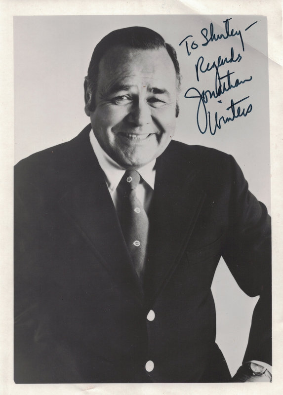 Comedian, Actor JONATHAN WINTERS - Photo Signed