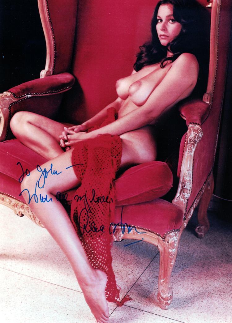 Actress LANA WOOD - Two Topless Photos Signed