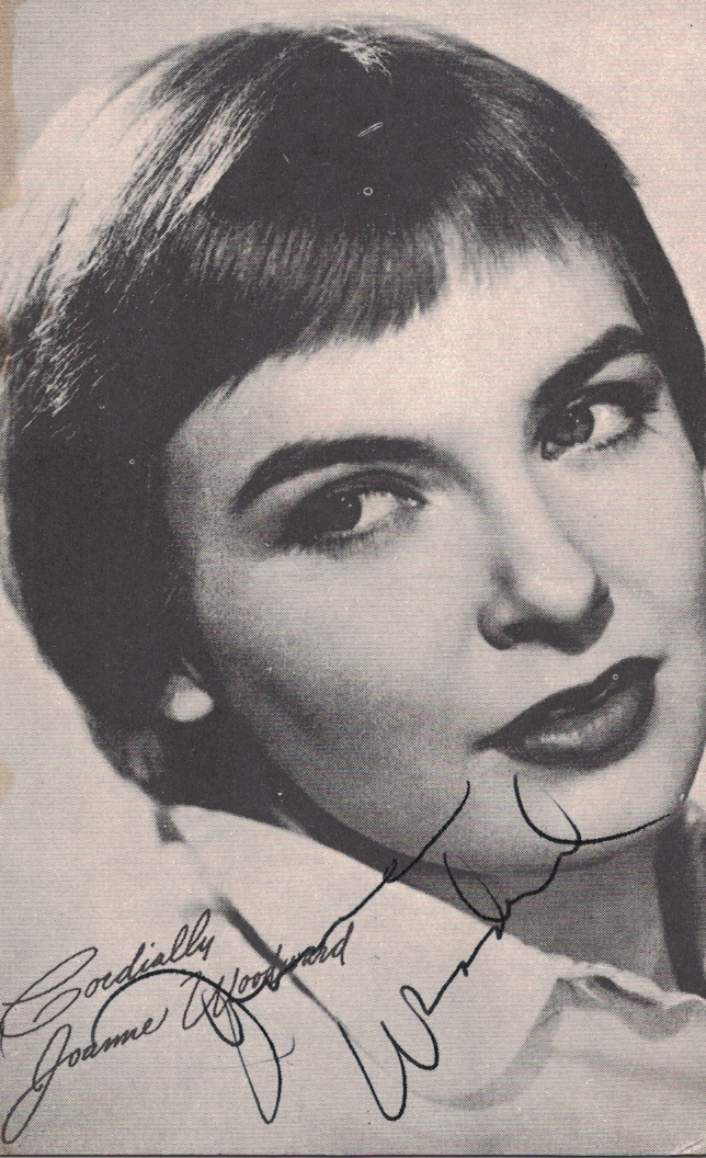 Actress JOANNE WOODWARD - Photo Signed