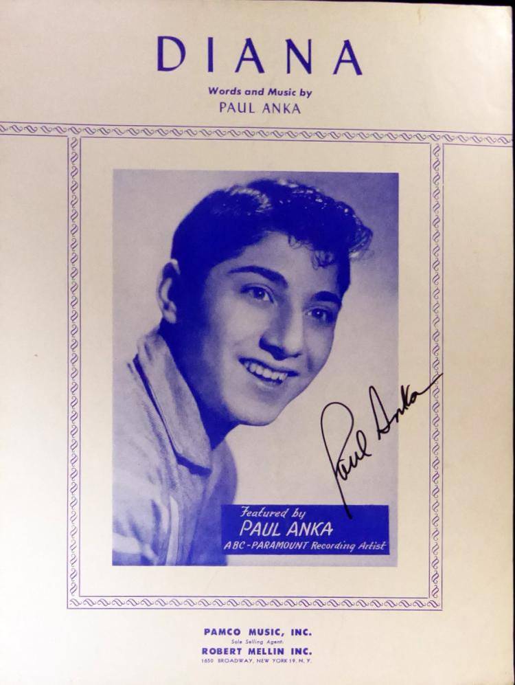 Singer PAUL ANKA - Photo Signed
