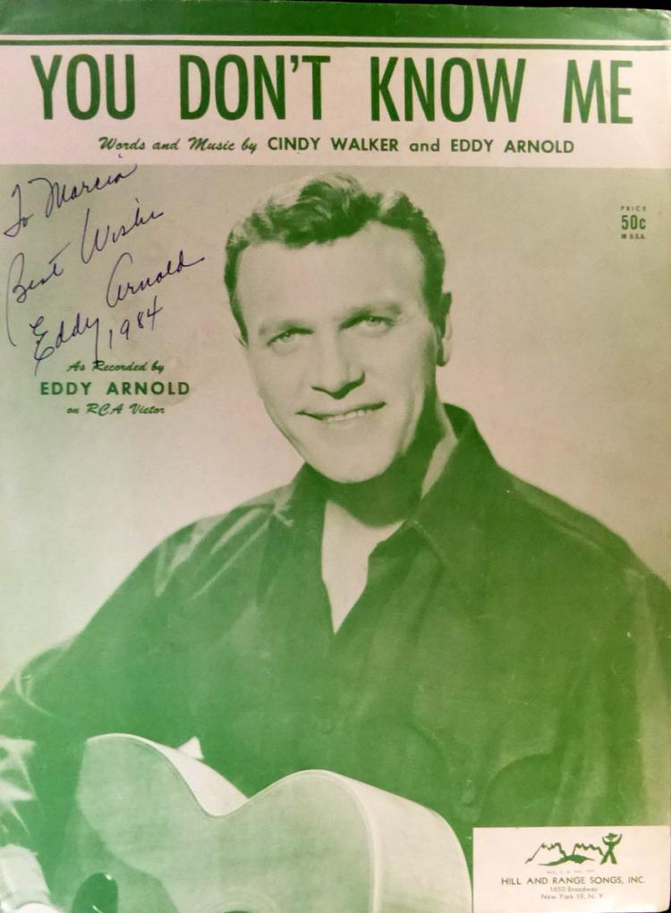 Country Singer EDDY ARNOLD - Photo Signed
