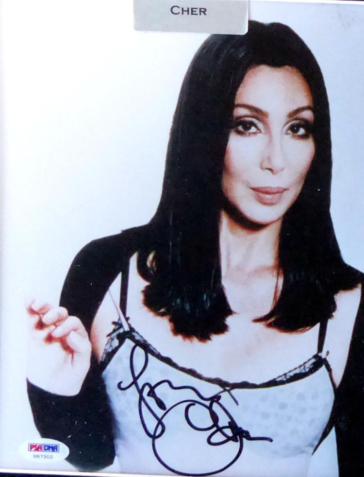 Singer, Actress CHER - Photo Signed, Framed