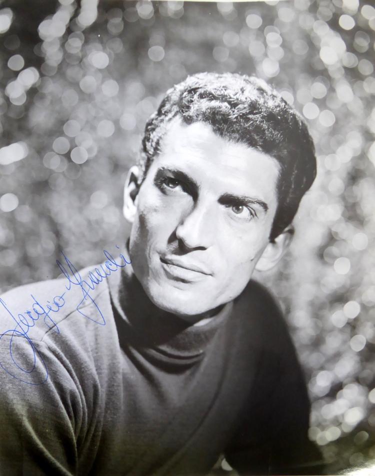Italian Singer, Actor SERGIO FRANCHI - Photo Signed