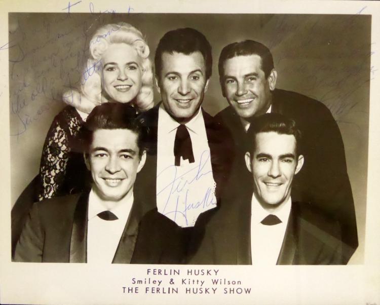 Country Singer FERLIN HUSKY - Photo Signed