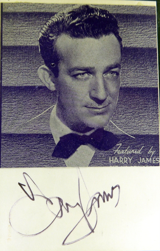 Bandleader HARRY JAMES - Card Signed