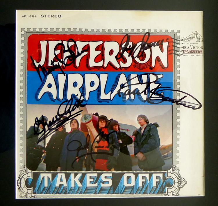 Rock Group JEFFERSON AIRPLANE - Album Jacket Signed
