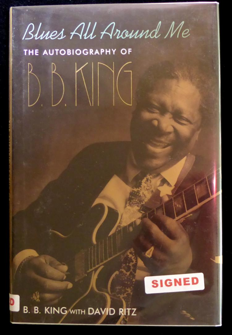 Blues Singer B B KING - His Book Signed, 1st Ed