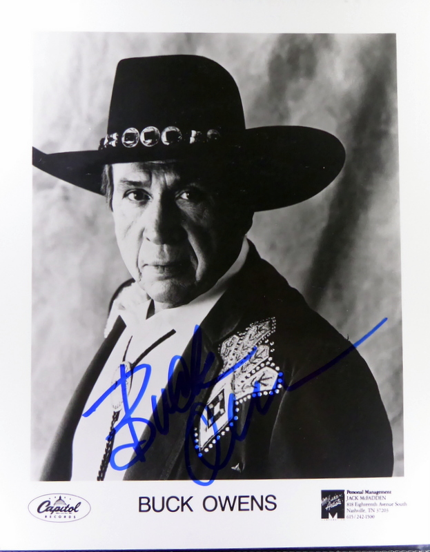 Country Singer BUCK OWENS - Photo Signed
