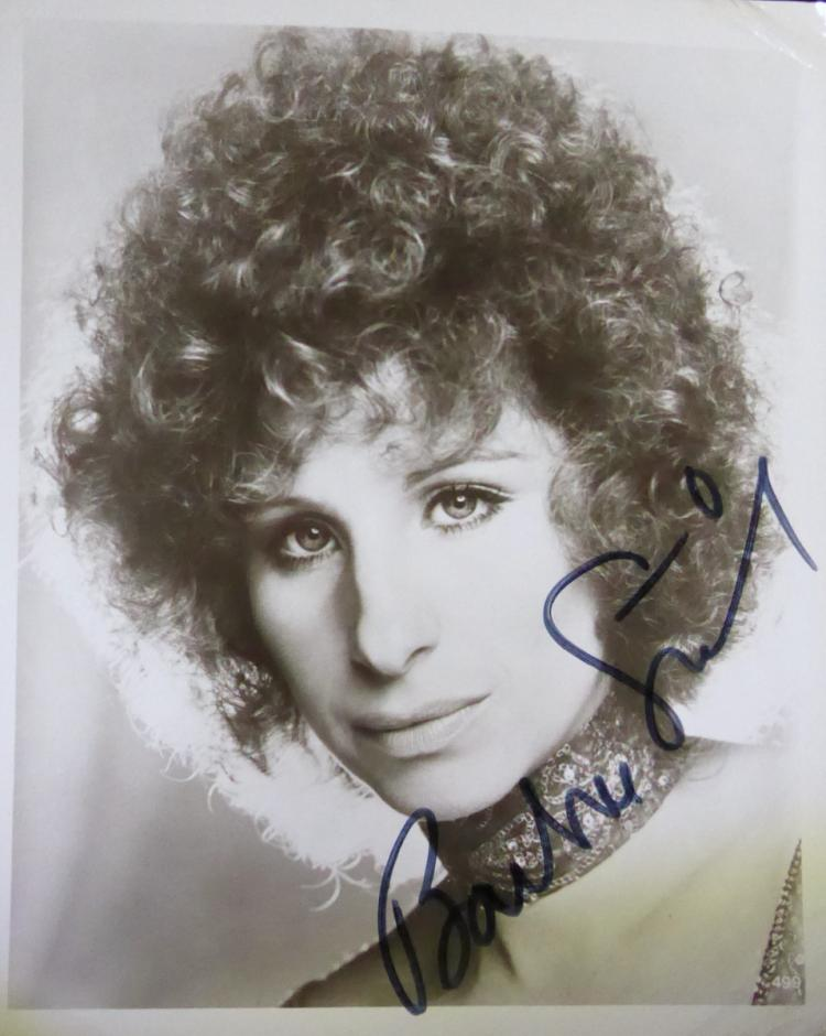 Singer, Actress BARBRA STREISAND - Photo Signed