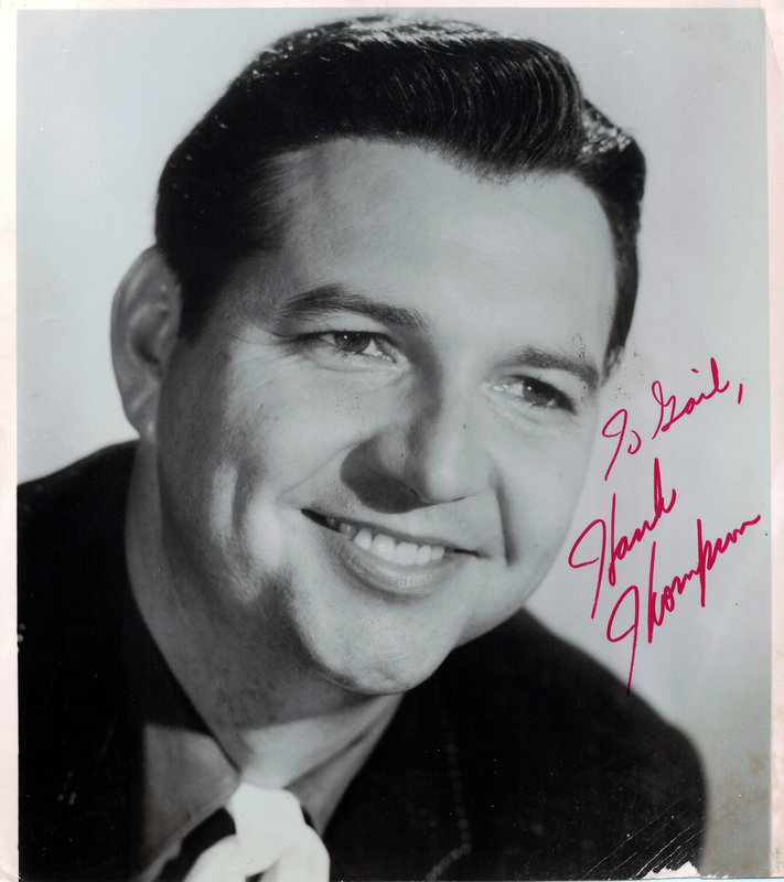 Country Singer HANK THOMPSON - Photo Signed