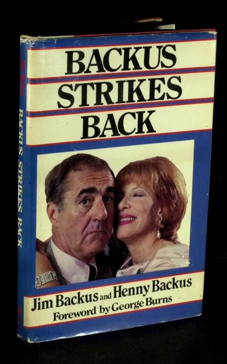 Actor JIM BACKUS and HENNY - Their Book Signed