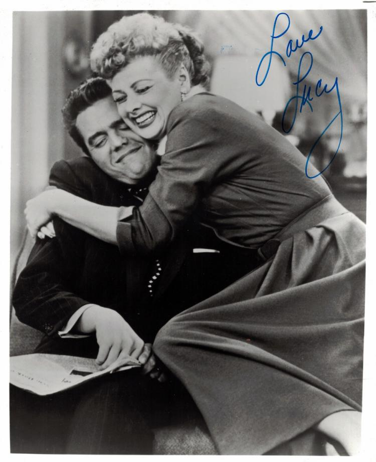 LUCILLE BALL - Photo With Desi Signed
