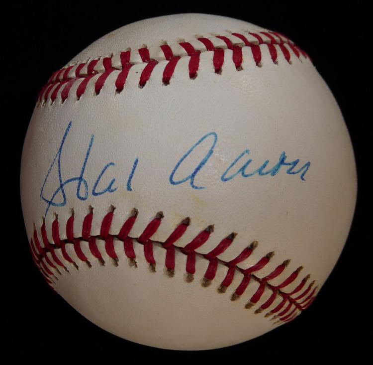 HR King HANK AARON - Baseball Signed