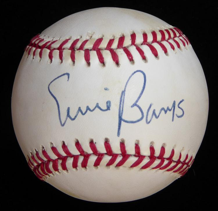 Cubs ERNIE BANKS - Baseball Signed