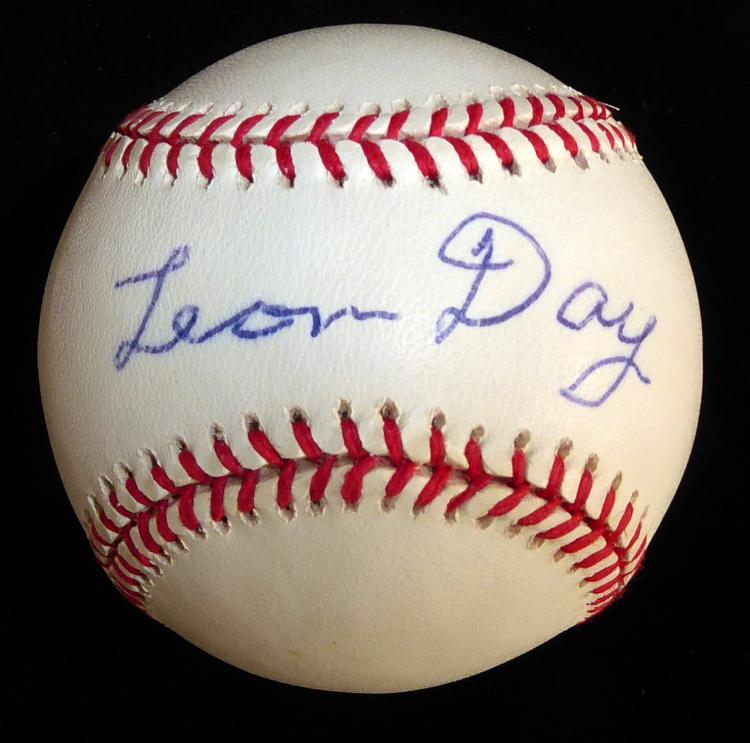 Negro League Pitcher LEON DAY - Baseball Signed