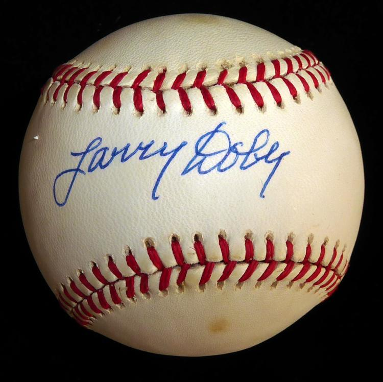 Indian LARRY DOBY - Baseball Signed