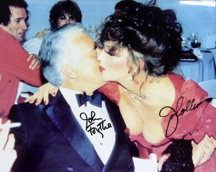DYNASTY: JOAN COLLINS & JOHN FORSYTHE - Photo Signed