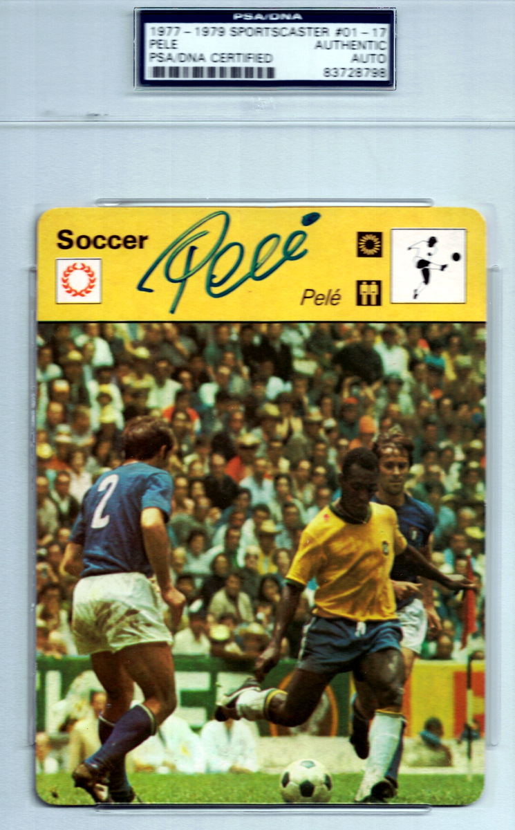 Brazilian Soccer Star PELE - Trading Card Signed
