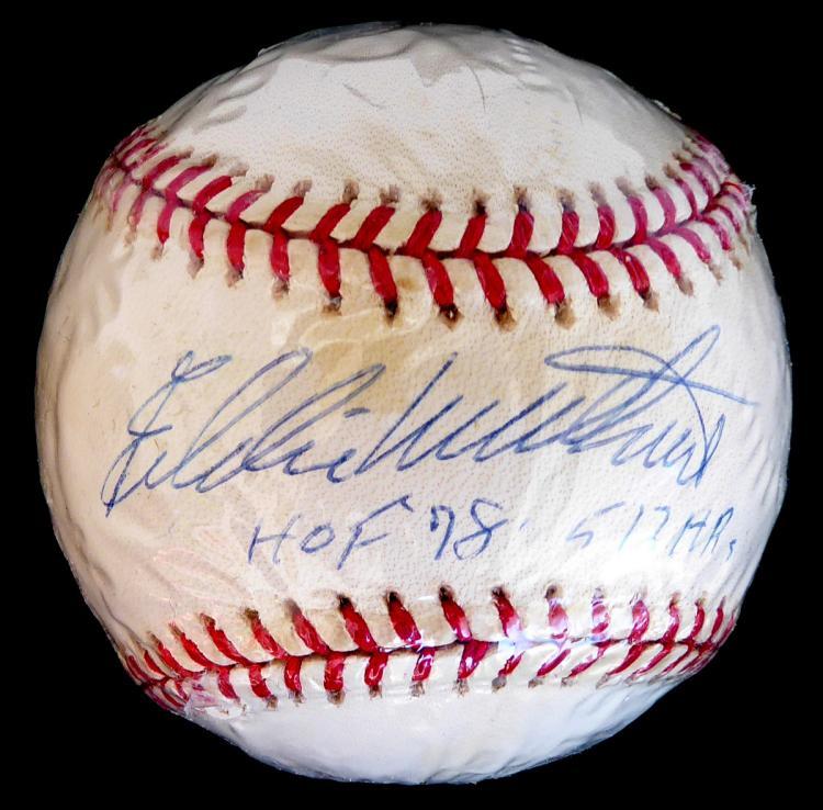 Brave's EDDIE MATHEWS - Baseball Signed