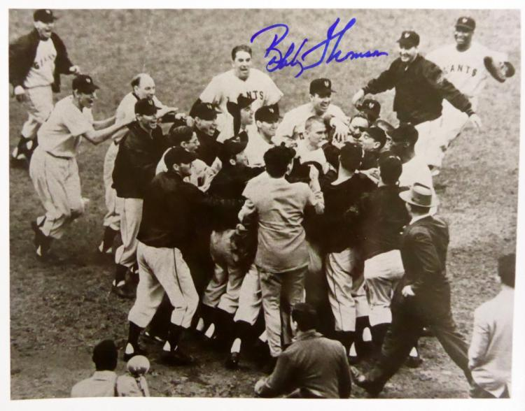 Giant Outfielder BOBBY THOMPSON - Photo Signed